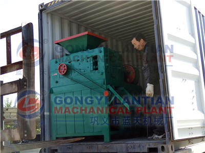 The briquette press machine is sent to the delivery site in Bangladesh