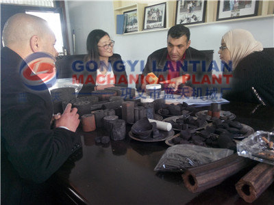 Israeli charcoal briquette machine users come to our company